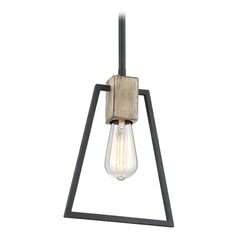 Farmhouse Industrial Pendant Light Grey Ash Brockton by Quoizel Lighting