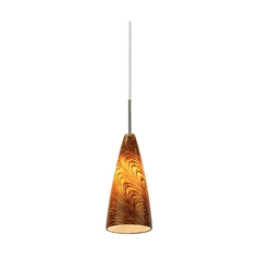 Sea Gull Lighting Mini-Pendant Light with Amber Glass 94766-6028
