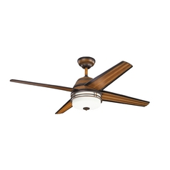 Kichler Lighting Kichler Lighting Porters Lake Mediterranean Walnut Ceiling Fan with Light 310110MDW