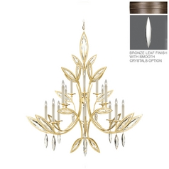 Fine Art Lamps Marquise Antique Hand Rubbed Bronze Crystal Chandelier