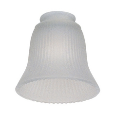 White Fluted Glass Shade - 2-1/4-Inch Fitter Opening