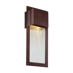 Minka Lighting Outdoor Wall Light with Clear Glass in Alder Bronze Finish 72382-246