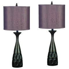 Table Lamp Set in Mahogany Bronze Finish