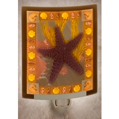 Porcelain Garden Lighting Starfish Night Light NRC185