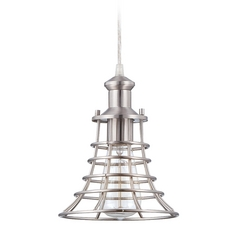 Craftmade Brushed Polished Nickel Mini-Pendant Light