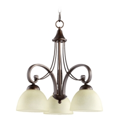 Quorum Lighting Lariat Oiled Bronze Chandelier