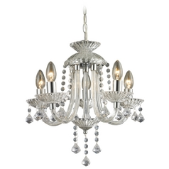 Sterling Lighting Clear / Chrome Crystal Chandelier