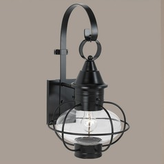 Prismatic Glass Outdoor Wall Light Black Norwell Lighting