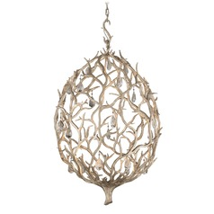 Corbett Lighting Enchanted Silver Leaf LED Pendant Light