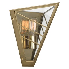 Industrial Sconce Brass Octavius by Robert Abbey