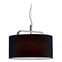 Arnsberg Cannes Chrome Pendant Light with Drum Shade