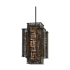 Corbett Lighting Shoji Bonsai Bronze Island Light with Rectangle Shade