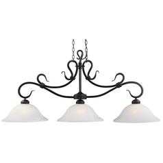 Elk Lighting Island Light with White Glass in Matte Black Finish 248-BK