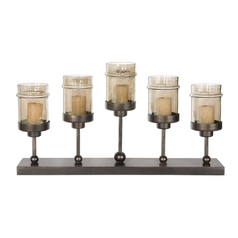 Candle Holder in Antique Bronze Finish