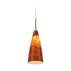 Sea Gull Lighting Mini-Pendant Light with Amber Glass 94766-6030