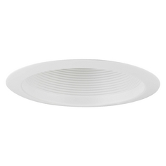 GU24 Deep White Baffle Trim for 6-Inch Recessed Cans