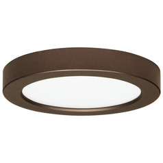 7-Inch Round Bronze Low Profile LED Flushmount Ceiling Light - 2700K