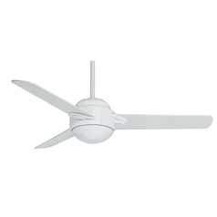 Casablanca Fan Trident Snow White Ceiling Fan with Light