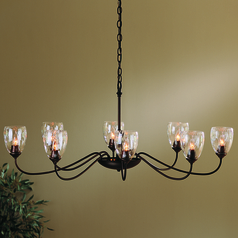 Hubbardton Forge Lighting Oval Mahogany Chandelier