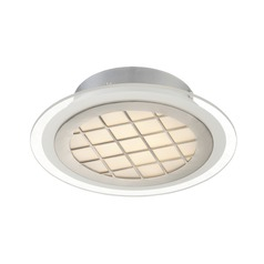 Lite Source Lamont Silver LED Flushmount Light