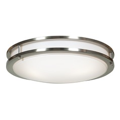 Access Lighting Solero Brushed Steel Flushmount Light