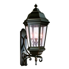Outdoor Wall Light with Clear Glass in Bronze Patina Finish