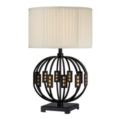 Lite Source Topaz Table Lamp with Drum Shade