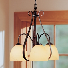 Hubbardton Forge Lighting Sweeping Taper Bronze Mini-Chandelier