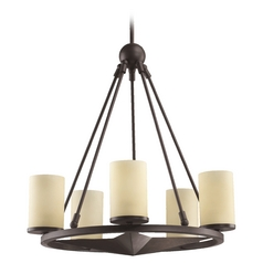 Quorum Lighting Lone Star Toasted Sienna Chandelier