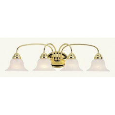 Livex Lighting Edgemont Polished Brass Bathroom Light