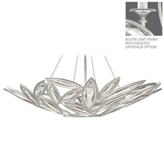 Fine Art Lamps Marquise Platinized Silver Leaf Pendant Light