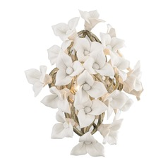 Corbett Lighting Lily Enchanted Silver Leaf Sconce