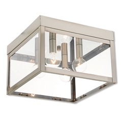 Livex Lighting Nyack Brushed Nickel Close To Ceiling Light