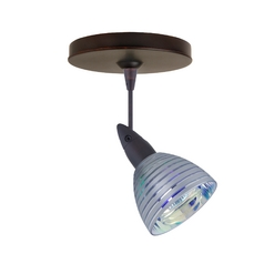 Besa Lighting Modern Directional Spot Light with Multi-Color Glass in Bronze Finish 1SP-1858SW-BR