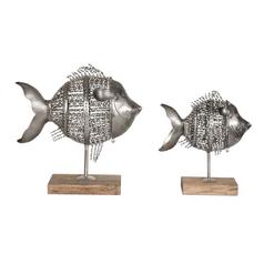 Modern Sculpture in Antique Nickel Finish