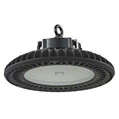 UFO LED High Bay Light Black 240-Watt 120v-277v 32660 Lumens 4000K 120 Degree Beam Spread