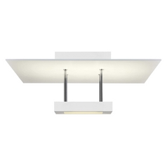 Sonneman Lighting Chromaglo Satin White LED Semi-Flushmount Light