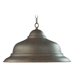 Quorum Lighting Cobblestone Pendant Light with Bowl / Dome Shade