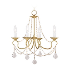 Livex Lighting Pennington Polished Brass Crystal Chandelier