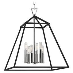 Webster 6 Light Pendant Light - Polished Nickel