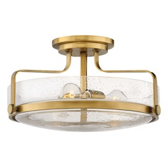 Hinkley Lighting Harper Heritage Brass Semi-Flushmount Light
