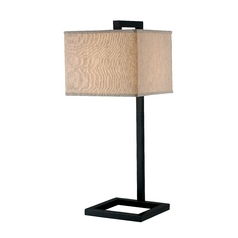 Kenroy Home Lighting Modern Table Lamp with Brown Shade in Oil Rubbed Bronze Finish 21079ORB