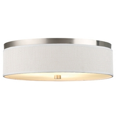 Forecast Lighting 20-1/2 Inch Flushmount Drum Shade Ceiling Light F615536NV