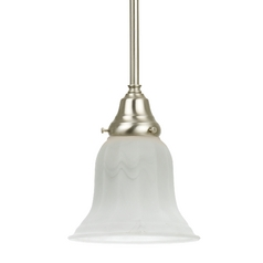 Mini-Pendant with Alabaster Glass Shade
