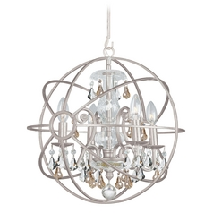Pendant Light in Olde Silver Finish