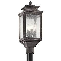 Kichler Lighting Kichler Lighting Wiscombe Park Weathered Zinc Post Light 49506WZC