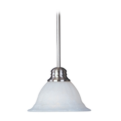 Maxim Lighting Modern Mini-Pendant Light with White Glass 85066MROI