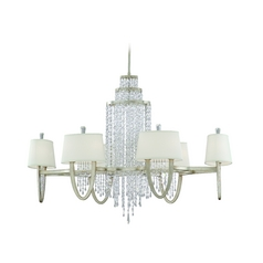 Corbett Lighting Viceroy Antique Silver Leaf Chandelier