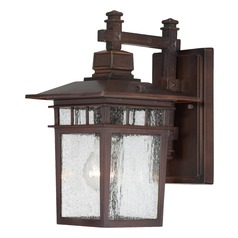 Seeded Glass Outdoor Wall Light Bronze Nuvo Lighting