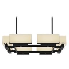 Sonneman Lighting Aspen Black Brass LED Pendant Light with Rectangle Shade